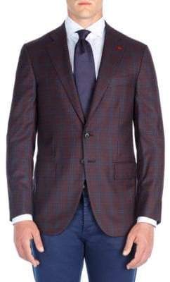 Isaia Gingham Wool Sportcoat