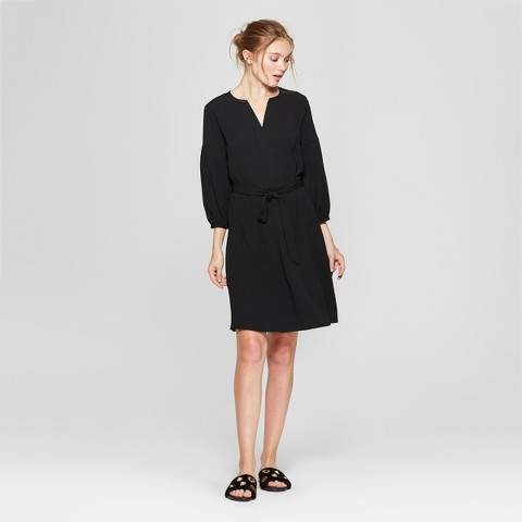 A New Day Women's 3/4 Sleeve Crepe Dress