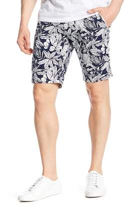 NOIZE Casual Tropical Print Shorts