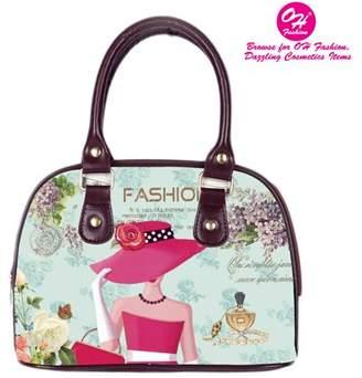 OH FASHION OH Fashion Women Tote Elegant Louise PU Leather, Travel, Beach, Big Handbag with zipper, makeup organizer Retro & Vintage