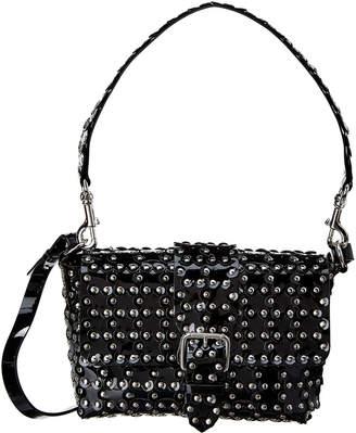 RED Valentino Flower Puzzle Leather Shoulder Bag
