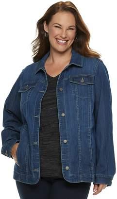 Croft & Barrow Plus Size Button-Front Jacket