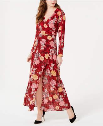 GUESS Elysian Faux-Wrap Maxi Dress