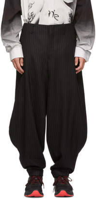 Comme des Garcons Black Wool Stripe Balloon Trousers