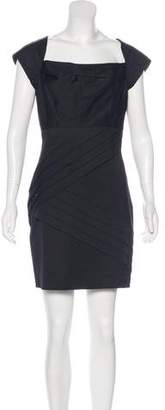 Black Halo Cap Sleeve Sheath Dress