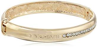 T Tahari with Crystal Pave Hinge Bangle Bracelet