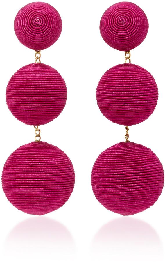 Rebecca de Ravenel Classic Silk Corded Clip Earrings