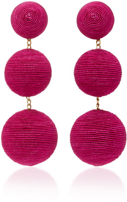 Rebecca de Ravenel Classic Silk Corded Clip Earrings $295 thestylecure.com