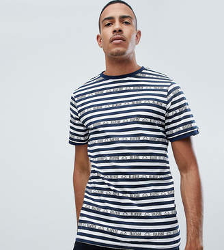 Ellesse T-Shirt With Logo Stripes In White