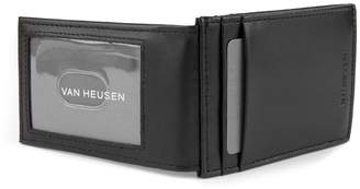 Van Heusen Men's RFID-Blocking Smooth Leather Magnetic Front-Pocket Wallet