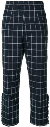 I'M Isola Marras checked cropped trousers
