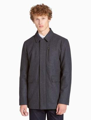 Calvin Klein wool blend zip coat