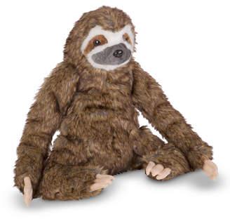 Melissa & Doug Sitting Stuffed Plush Lifelike Sloth