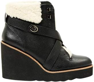 Coach Leather Snow Boots