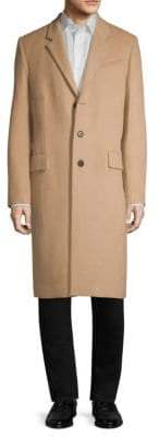 Helmut Lang Three-Button Wool& Cashmere Coat