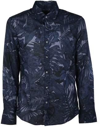 Michael Kors Slim-fit Leaf Shirt