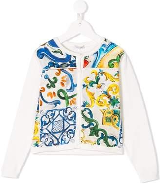 Dolce & Gabbana Majolica print cardigan