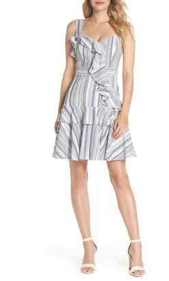 Maggy London Stripe Ruffle Sundress