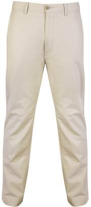 Bar Harbour - Natural Straight Leg Cotton Chino Trousers Long