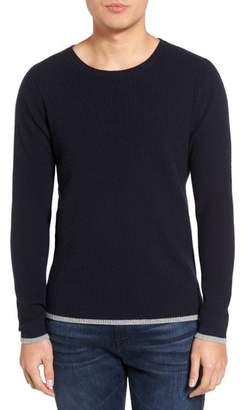 Velvet by Graham & Spencer Jagger01 Tipped Cashmere Sweater