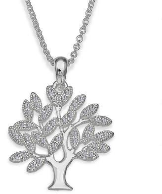 JCPenney SPARKLE ALLURE Sparkle Allure Cubic Zirconia Family Tree Pendant Necklace