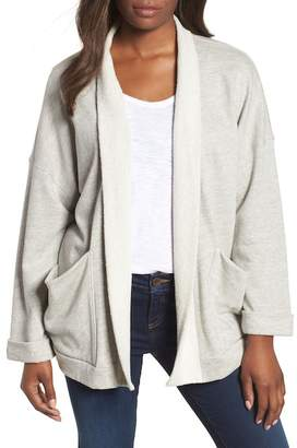 Caslon Off-Duty Roll Sleeve Cotton Blend Jacket