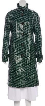 Tory Burch Printed Rain Coat