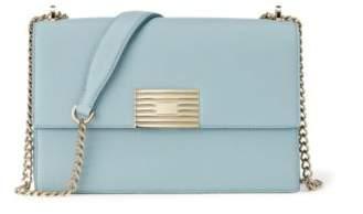 Ralph Lauren Grain Calfskin Rl Chain Bag Pale Blue One Size