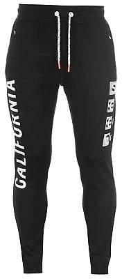 Soul Cal SoulCal Mens SCCO Jogging Bottoms Fleece Trousers Pants Zip Drawstring