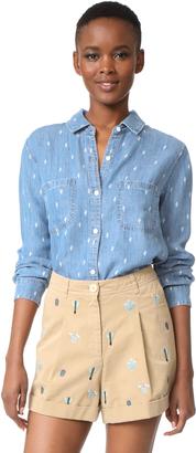 RAILS Carter Button Down Shirt $148 thestylecure.com