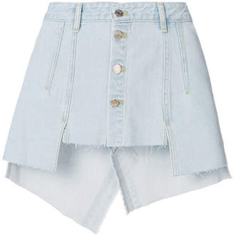 Sjyp fitted denim skirt
