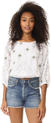 Free People Carolina Mindset Embroidered Top $168 thestylecure.com