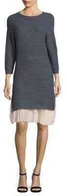 Rib-Knit Long Sweater