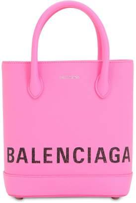 Balenciaga Xxs Ville Logo Printed Tote Bag