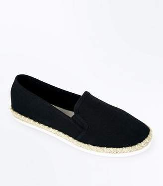 New Look Black Canvas Espadrilles