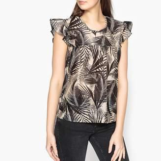 Stella Forest Sleeveless Palm Print Blouse
