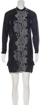 Givenchy Button-Up Mini Dress