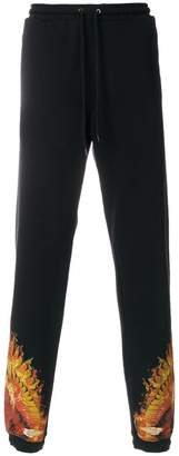 Marcelo Burlon County of Milan Flame track trousers