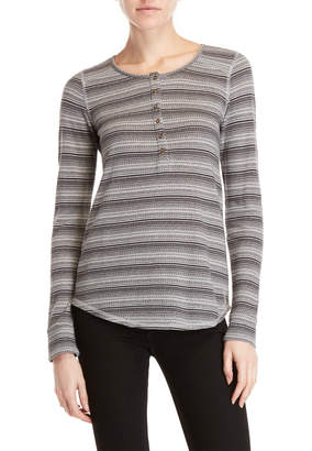 Lucky Brand Long Sleeve Stripe Henley