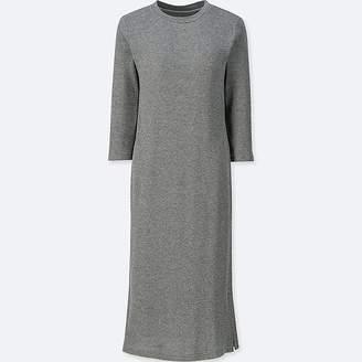 Uniqlo Women's Waffle 3/4 Sleeve Relax Bra Dress