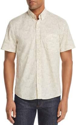 Billy Reid Tuscumbia Short-Sleeve Floral-Print Regular Fit Button-Down Shirt