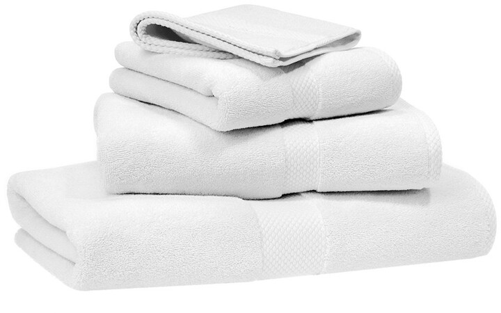 Avenue Towel - White - Wash Cloth