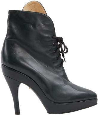 Alaia Green Leather Ankle boots