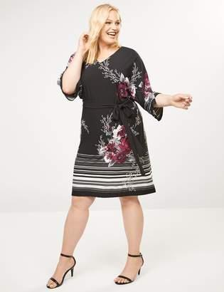 Plus Size Kimono Sleeve Dress - ShopStyle