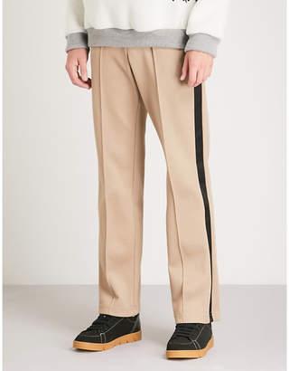 Maison Margiela Side-stripe regular-fit straight woven trousers