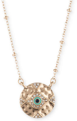 """lonna & lilly Gold-Tone Pave Evil Eye Pendant Necklace, 16"""" + 3"""" extender, Created for Macy's"""
