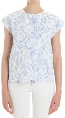 MSGM Floral Laced T-shirt