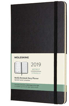 Moleskine NEW 2019 Weekly Diary/Notebook Hard Cover Large
