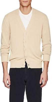 Tomas Maier MEN'S SCALLOPED-EDGE COTTON CARDIGAN