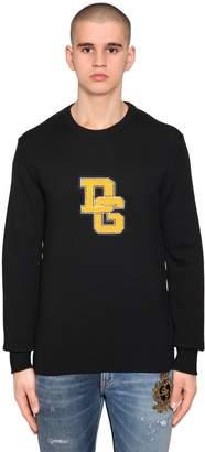 Dolce & Gabbana Logo Patch Virgin Wool Sweater